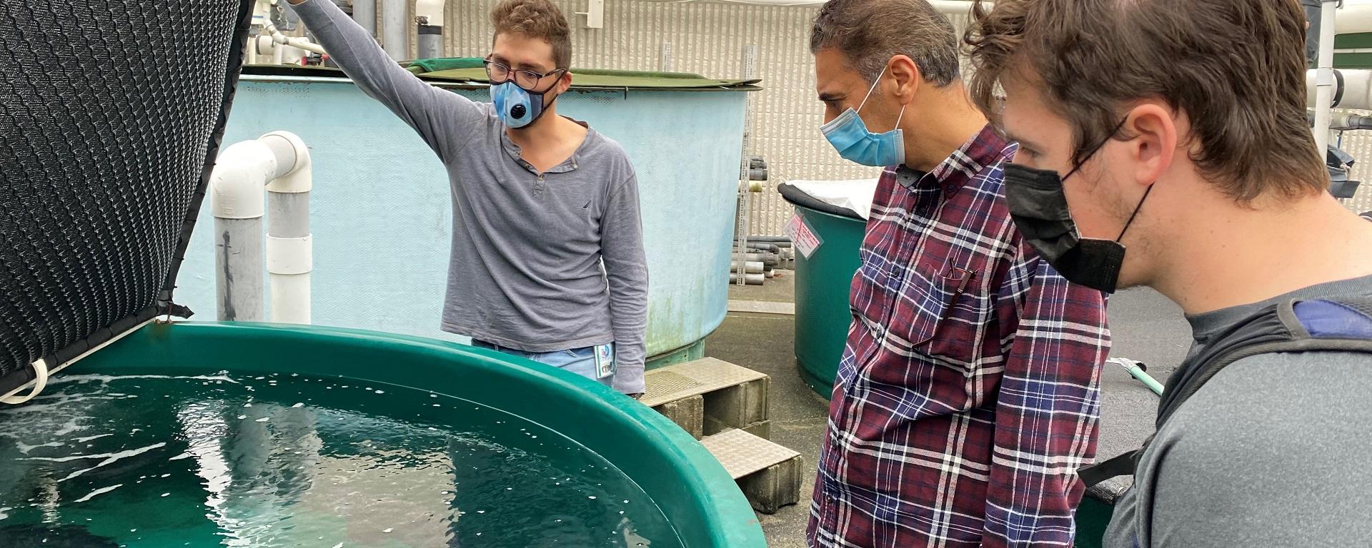 Aquaculture students on site visit